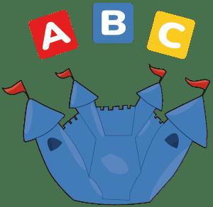 ABC Hüpfburg mieten Logo